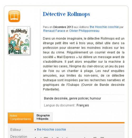 Détective Rollmops sur le site du CNDP